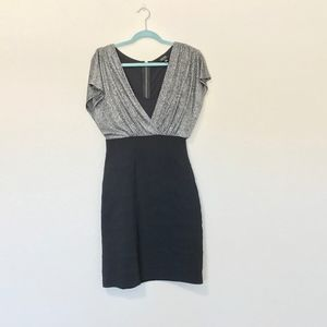 Nicole Miller Black Silver Mini Party Dress 6
